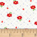 Sugar Sack Floral Check Pearl Grey