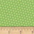 Sugar Sack Daisy Dot Green
