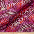 Silk Chiffon Animal Print Metallic Purple