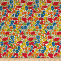 Liberty Fabrics Tana Lawn Poppy and Daisy  Orange
