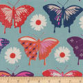 Cotton + Steel Flutter Butterflies Aqua
