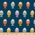 Cotton + Steel Welsummer Egg Cups Navy