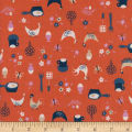Cotton + Steel Welsummer Kitchen Kitsch Sweet Orange
