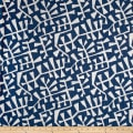 Premier Prints Correos Slub Canvas Regal Navy