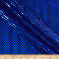Iridescent Sequin Dot Mesh Royal Blue