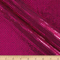 Iridescent Sequin Dot Mesh Fuchsia