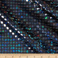 Faux Sequin Hologram Square Mesh Black