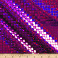 Iridescent Sequin Square Hologram Mesh Purple