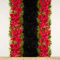 Maywood Studio Poinsettia & Pine Poinsettia Mixed Stripe Cream/Black