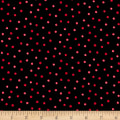 Maywood Studio Poinsettia & Pine Holly Berry Dots Black