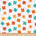 Sprinkle Sunshine Pinwheels Orange/Teal