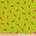 Kimberbell Designs Broomhilda's Bakery Candy Corn Dots Lime