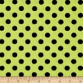 Kimberbell Designs Broomhilda's Bakery Dots Lime Black