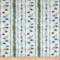 Maywood Studio Christmas Joys Flannel Garland Stripe Blue