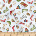 Maywood Studio Christmas Joys Flannel Winter Things Blue