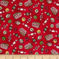 Maywood Studio Christmas Joys Flannel Christmas Candy Red
