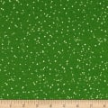 Maywood Studio Christmas Joys Flannel Snowfall Green