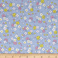 Nana Mae II 1930's Reproduction Floral Dot Blue
