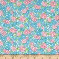 Nana Mae II 1930's Reproduction Large Daisy Aqua/Pink