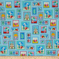 Just Beachy Beach Motifs In Boxes Turquoise