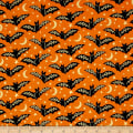 Midnight Spell Bats Metallic Orange
