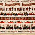 Pumpkin Farm Novelty Border Stripe Cream
