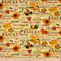 Autumn Album Thanksgiving Words Cream