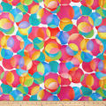 "Digital 108"" Wide Back Dotcentric Large Overlapping Dots Pink/Blue"