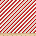 Ring In The Holly Days Candy Cane Stripe Cream/Red