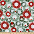 Holiday Wishes Wreaths Green