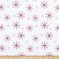 Flannel Frosty Friends Candy Cane Snowflakes White/Multi