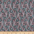 Flannel Frosty Friends Tree Branches Gray