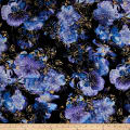Kanvas Floral Impressions Photo Navy/Purple