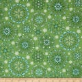 Contempo  Winter Games Snowflakes Green