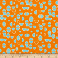 Contempo  Modern Marks Half Ovals Orange