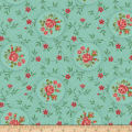 Benartex Homestead: Country Rosette Turquoise