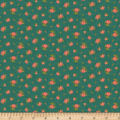 Benartex Homestead: Country Rose Buds Teal