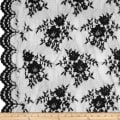 Chantilly Lace Double Border Black
