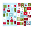 "Lewis & Irene Hygge Christmas Advent Calendar 36"" Panel Icy Blue"