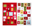 "Lewis & Irene Hygge Christmas Advent Calendar 36"" Panel Red"