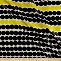 Marimekko Rsymatto Coated Cotton Black/Yellow
