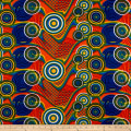 Supreme Fancy African Print 6 Yards Orange/Blue