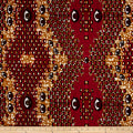 Supreme Wax African Print 6 Yards Red Eyes