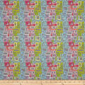 Uptown Rainbow Rectangles Grey