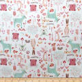 Nursery Program Bamboo Flannel Forest Friends Peony