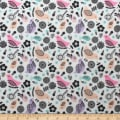 Nursery Program Bamboo Flannel Birds Blush