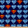 Superman Shield Flannel Navy