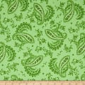 Maywood Studio Greenery Paisley Green