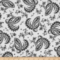 Maywood Studio Greenery Paisley Black
