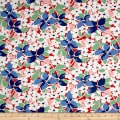 Maywood Studio Hi-de-Ho Large Floral Red/Blue